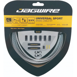 Kit Universal Sport Brake Braided White