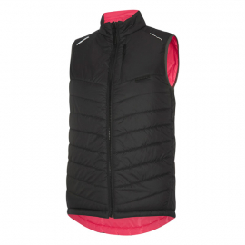 Isoler Insulated Reversible women's gilet  phantom / fiery pink size 16
