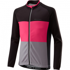 Sportive youth long sleeved thermal jersey  black / pink glo age 11 - 12