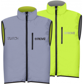 Switch Mens Gilet Silver/Yellow
