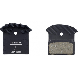 J03A disc brake pads and spring  alloy backed with cooling fins  resin