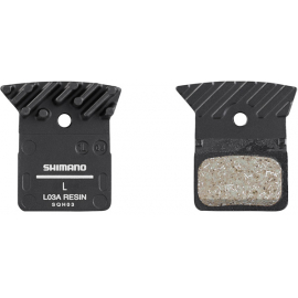 L03A disc brake pads and spring  alloy backed with cooling fins  resin