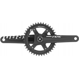 CRANK APEX 1 BB30 BLACK W 42T X-SYNC CHAINRING (BB30 BEARINGS NOT INCLUDED):  11SPD 172.5MM 42T